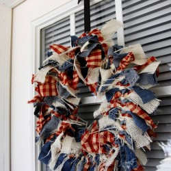 DIY 4th Of July Patriotic Wreath