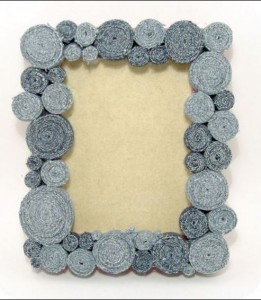 Photo Frame Made From Recycled Denim
