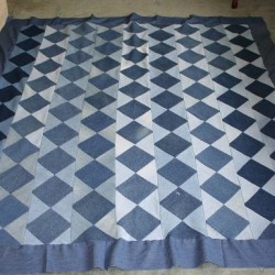 Make a Beautiful Denim Quilt from Recycled Jeans