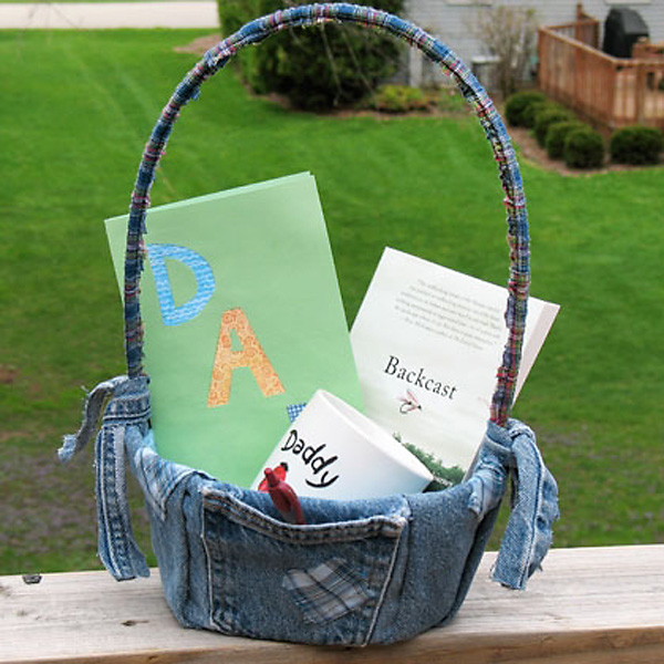Recycled Denim Easter Basket