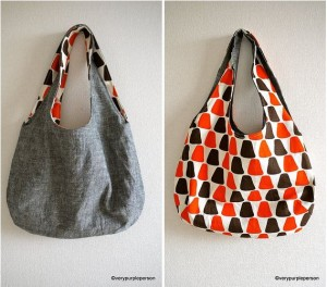 Reversible Denim Bag Made From Recycled Denim Jeans