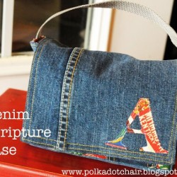 Denim Carry Case, Great For A Book Or Kindle