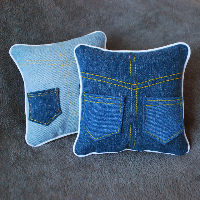 Tooth Fairy Pillow With Pocket Made From Recycled Jeans