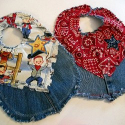 Western Style Denim Bibs Made from Jeans