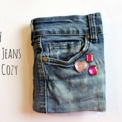 No-Sew Denim Cover for a Kindle or Notebook