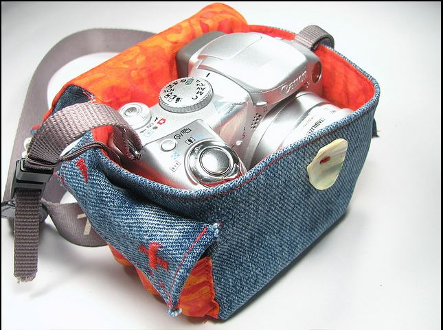 Denim Camera Bag Made from Old Jeans