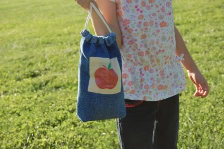 Denim Lunch Bag Made from Jeans