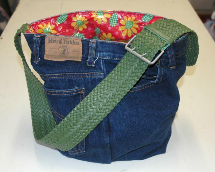 Denim Swim Bag or Purse Tutorial Made From Recycled Denim Jeans