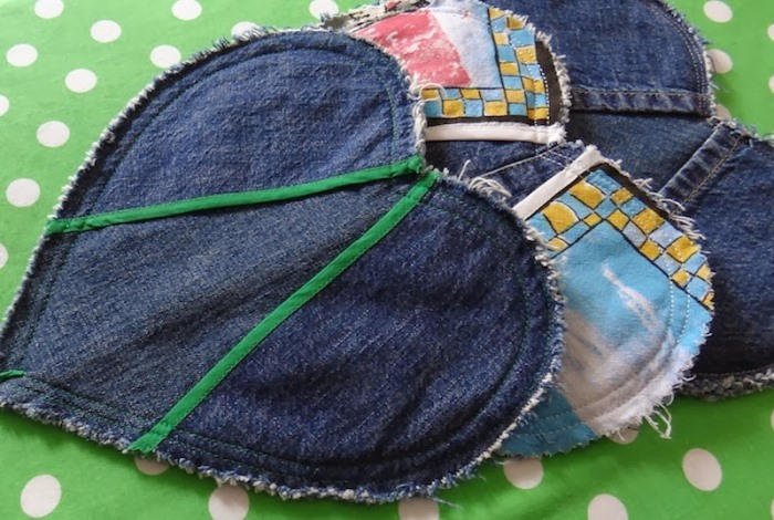 Potholders Made from Repurposed Denim Jeans